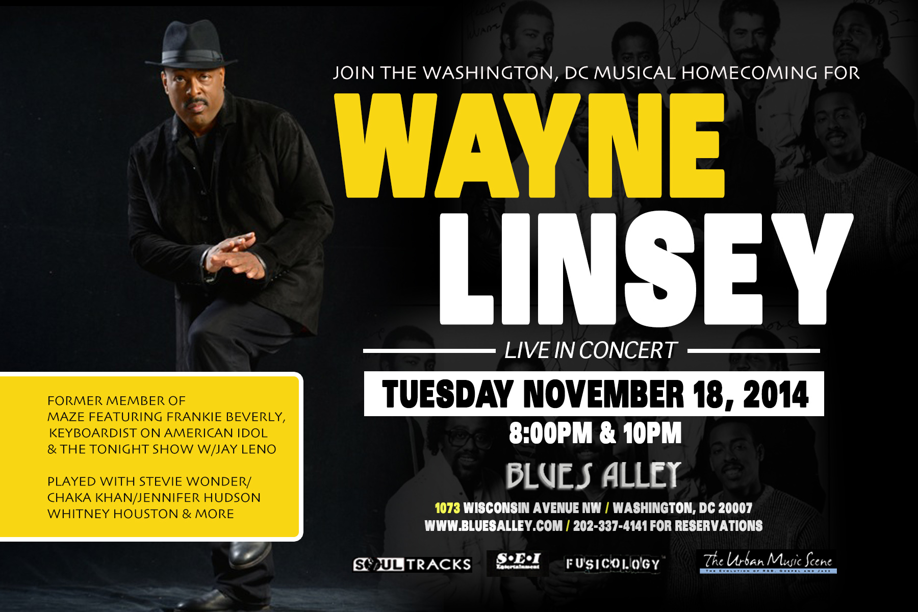 Wayne Linsey LIVE at Blues Alley