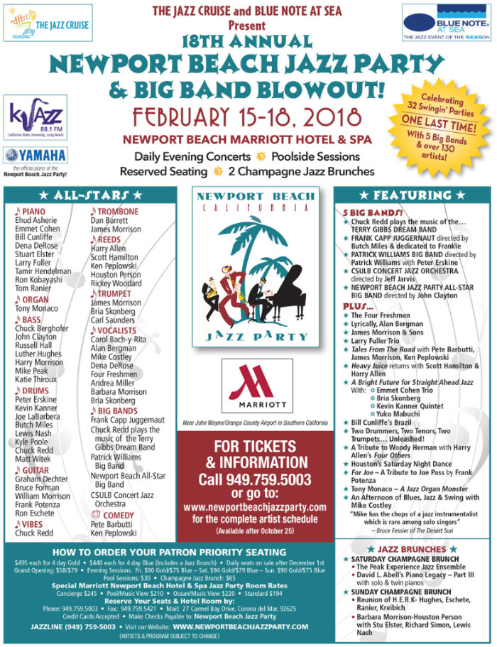The 18th Annual Newport Beach Jazz Party & Big Band Blowout