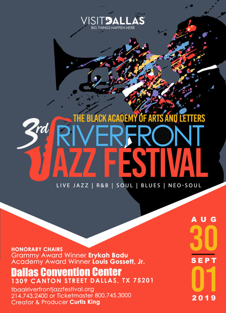 The 3rd Annual Riverfront Jazz Festival in Dallas, TX | Aug  30th